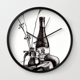 Wine and Dine Wall Clock