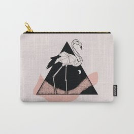 Flamingo in straight lines Carry-All Pouch