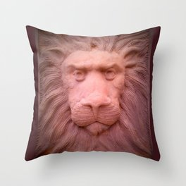 Lion clay Throw Pillow