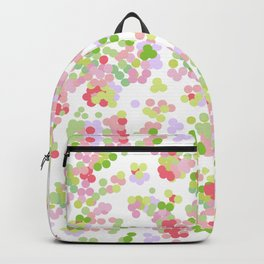 Pointillism . Pink and green . Backpack