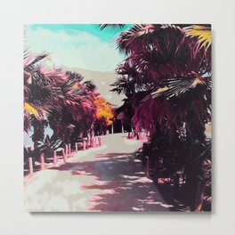 Palm Trees In Spain III Metal Print
