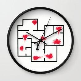 HOTLINE MIAMI - blood and walls Wall Clock