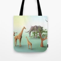 africa Tote Bags featuring Africa by CharismArt