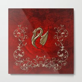 Wonderful decorative dragon Metal Print