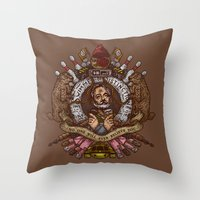 murray Throw Pillows featuring Murray crest by Rodrigo Ferreira