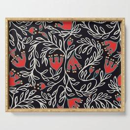 Medievel pattern black christmas Serving Tray