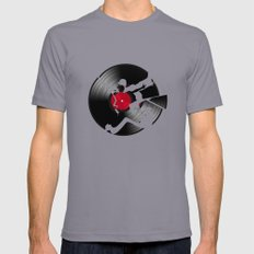 music  2X-LARGE Slate Mens Fitted Tee