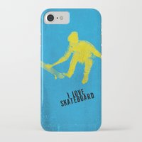 skateboard iPhone & iPod Cases featuring skateboard  by Easyposters