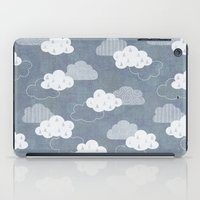 clouds iPad Cases featuring RAIN CLOUDS by Daisy Beatrice