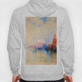 Venice, The Lagoon Looking Toward Santa Maria Della Salute - Digital Remastered Edition Hoody