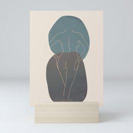 Line Female Figure 80 Mini Art Print