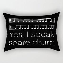 Yes, I speak snare drum Rectangular Pillow