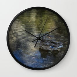 Mallard at Cathedral Beach Wall Clock