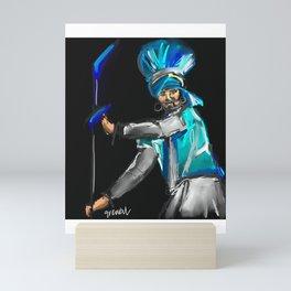 Bhangra Dancer 1 Mini Art Print