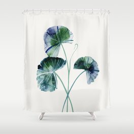 Water lily leaves Shower Curtain