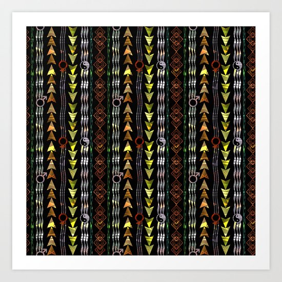 Abstract ethnic pattern. Art Print