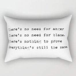 Everything's still the same - Lyrics collection Rectangular Pillow