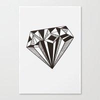 diamond Canvas Prints featuring Diamond by Galitt