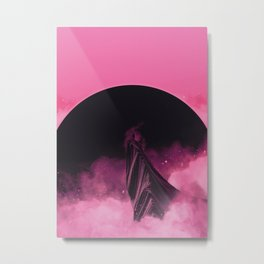 No Stars Pink Sky Metal Print