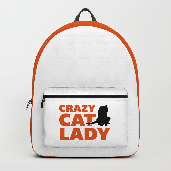 Crazy Cat Lady Funny Quote Backpack