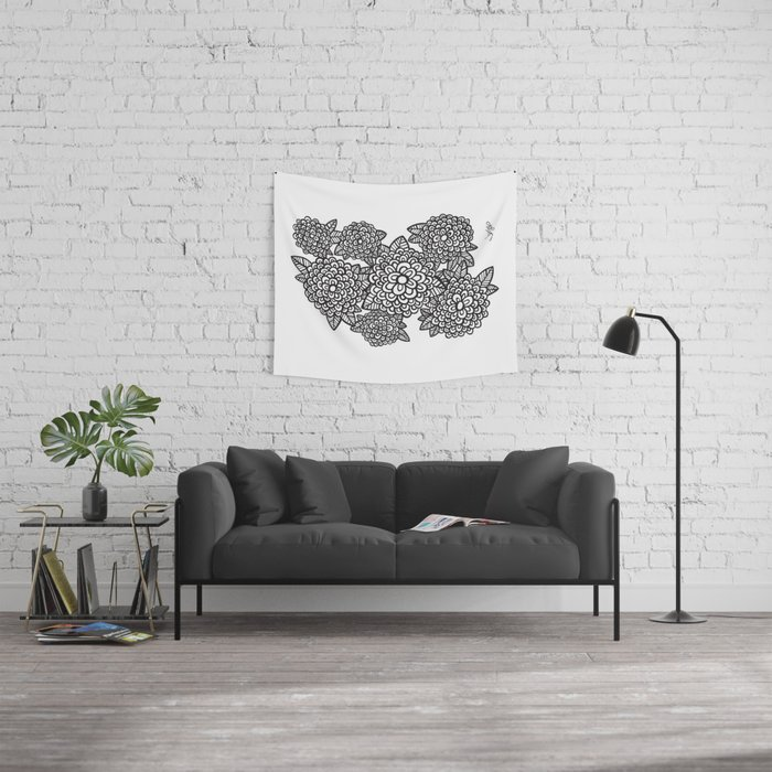Graphic Bouquet LITE Wall Tapestry