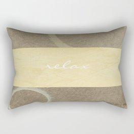 Relax Modern Art w/ Signature Rectangular Pillow