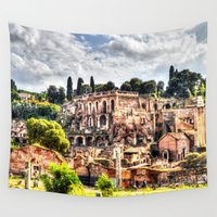 rome Wall Tapestries featuring Ancient Rome by haroulita