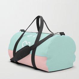 Paper love on mint green Duffle Bag