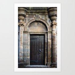 Edinburgh Mercat Cross Door Art Print