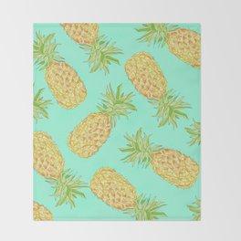 Pineapple of My Eye  Throw Blanket