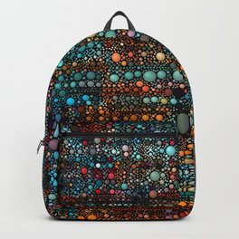 Patchwork Bubbles Abstract Backpack