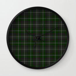 Green & Grey Plaid  Wall Clock