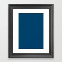 Dark imperial blue Framed Art Print