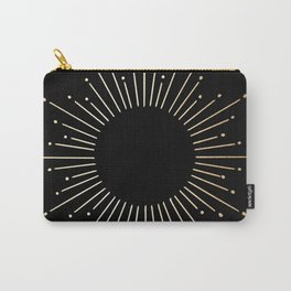 Sunburst Gold Copper Bronze on Black Carry-All Pouch