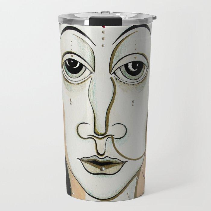 Angel Aiya Channeled Painting Sacred Art High Frequencies Travel Mug
