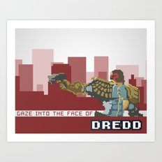 Gaze Into the Face of Dredd Art Print