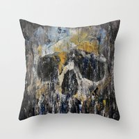 cthulhu Throw Pillows featuring Cthulhu by Michael Creese