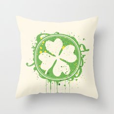 Patrick's clover Throw Pillow