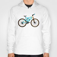 brompton Hoodies featuring Mountain Bike by Wyatt Design