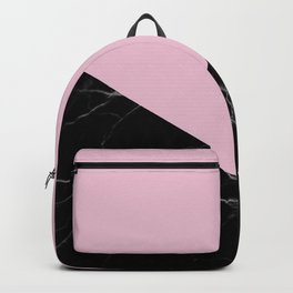 mauve and black marble Backpack