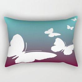 Ombre butterflies Rectangular Pillow