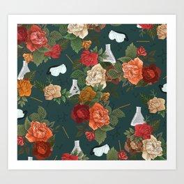 Chemistry Floral Art Print