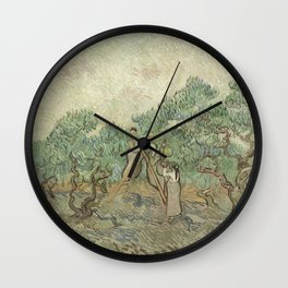 Vincent van Gogh The Olive Orchard 1889 Painting Wall Clock
