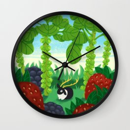 Berries in Heaven Wall Clock