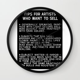 Tips For Artists in Black Wall Clock