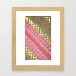 Multi Colored Squares Framed Art Print