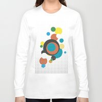 bubbles Long Sleeve T-shirts featuring bubbles by Heinz Aimer