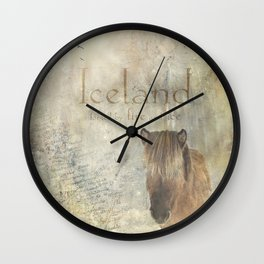 Iceland, forged by fire and ice Wall Clock