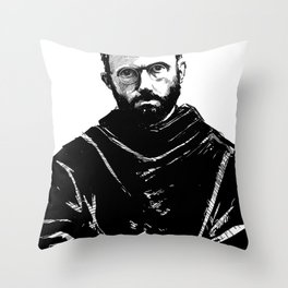 St Maximilian Kolbe Throw Pillow