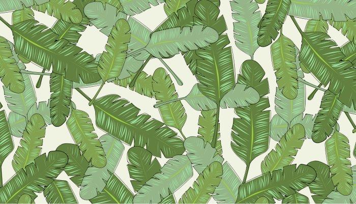 Banana Leaf Print Pillow Sham